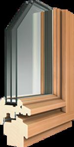 Auria-Stil-Holz-Fenster